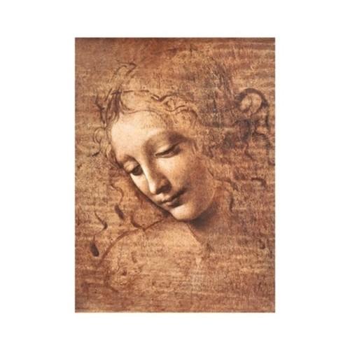 ''La Scapigliata, 1508'' by Leonardo da Vinci Huntington Graphics Art Print (14 x 11 in.)