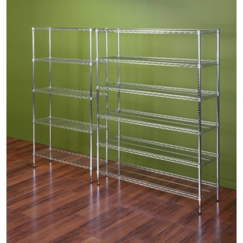 Honey Can Do 6-Shelf Steel Storage Shelving Unit, Chrome