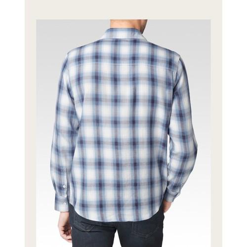 Hunter Shirt - White/Black/Ink Riviera Plaid