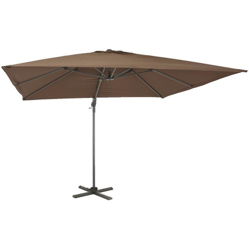 Outdoor Expressions 10 Ft. Square Aluminum Offset Patio Umbrella - TJAU-032 BRN