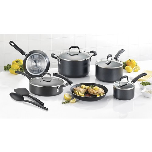 T-Fal - Expert Pro 12-Piece Cookware Set - Black