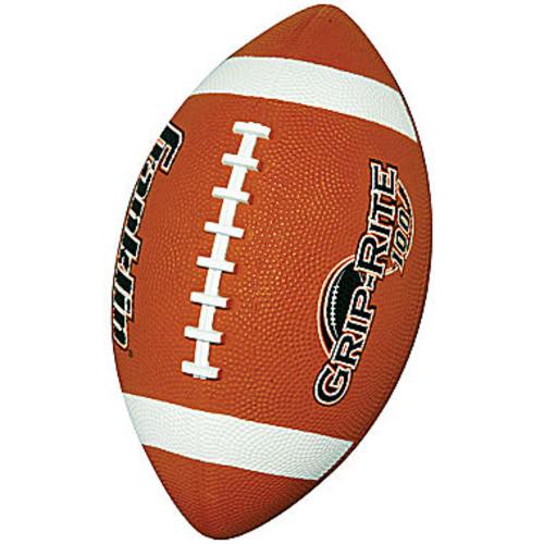 Franklin Sports Grip-Rite 100 Rubber Football-Junior