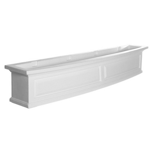 Mayne 5 ft. Nantucket Window Box in White