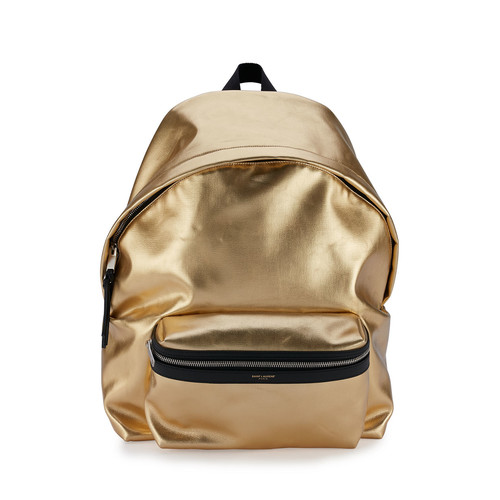 SAINT LAURENT Metallic Leather Backpack