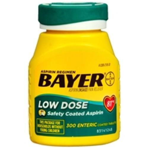 Bayer Aspirin Low Dose 81 mg Tablets