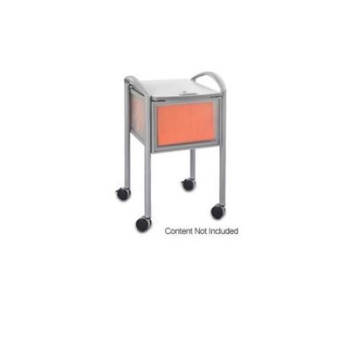 Safco Products 5374GR Impromptu Mobile File with Locking Top, Letter or Legal Size, Gray [Grey]