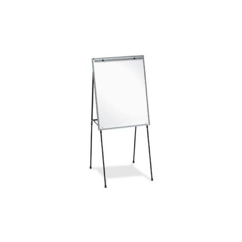 Lorell Dry-Erase Board Display Easel with Rubber Feet, 40-Inch to 70-Inch, Black