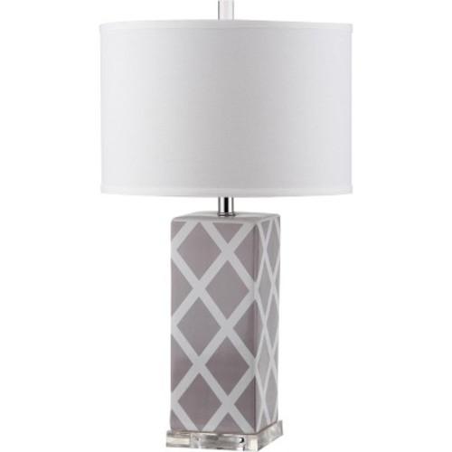 Garden 27Inch H Lattice Table Lamp Gray - Safavieh