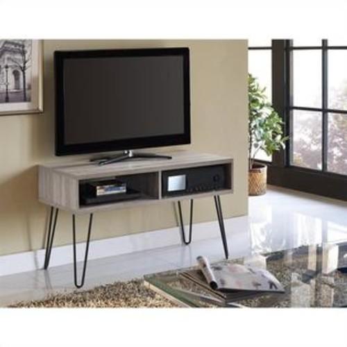 Ameriwood Home Altra Furniture Owen Retro 42 Inch TV Stand in Sonoma Oak and Gunmetal Gray
