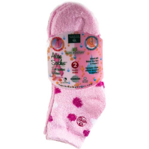 Aloe Moisture Aloe Socks [Pink/Polka Dots]