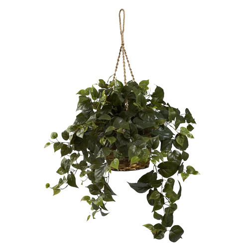 nearly natural Philo Hanging Plant Basket