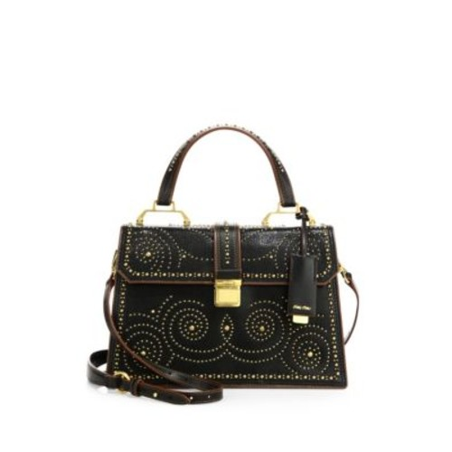 MIU MIU Studded Leather Top-Handle Satchel