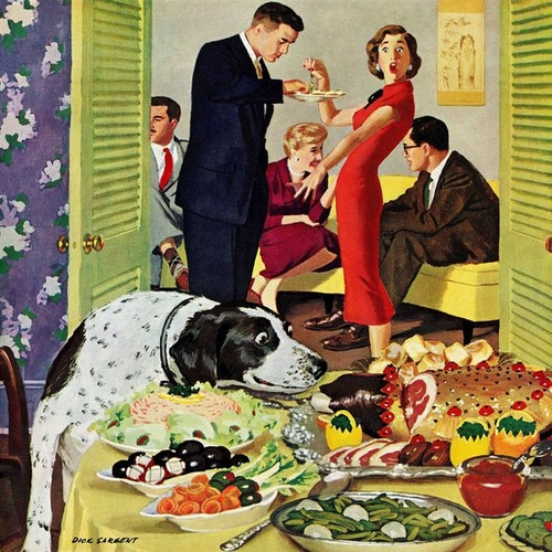 Marmont Hill - Doggy Buffet by Richard Sargent Painting Print on Canvas
