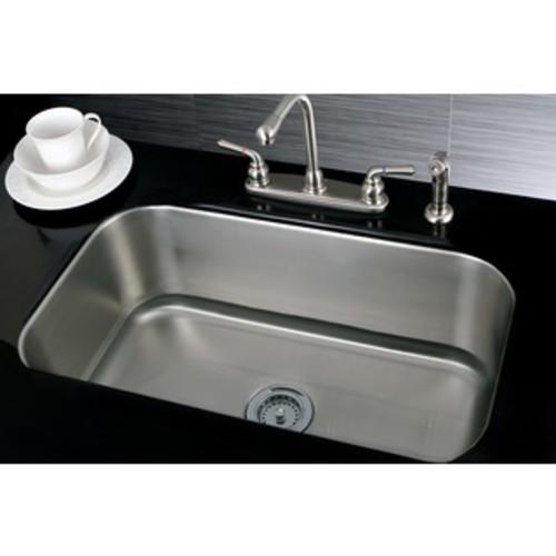 Polaris Single Bowl Brushed Satin Stainless Steel Sink - STAINLESS STEEL