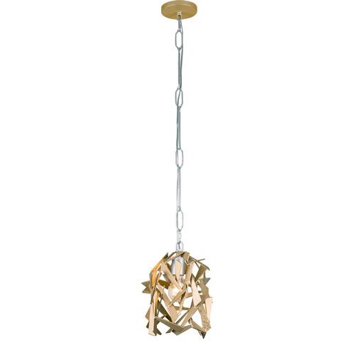 Bermuda 1-Light Mini Pendant Light [Finish : 286M01AGRB - Antique Gold \/ Rustic Bronze]