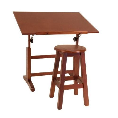Studio Designs 13257 Creative Table and Stool Set, Walnut [EACH]