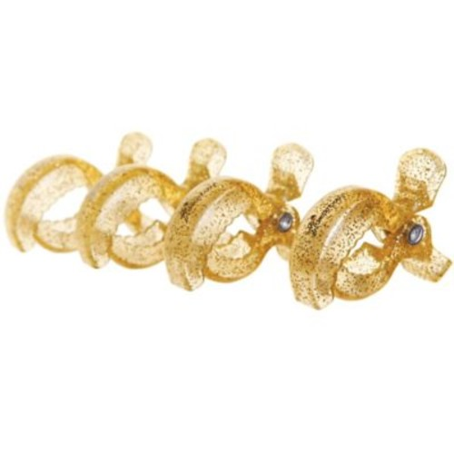 Dreambaby Strollerbuddy Stroller Blanket Clips in Gold Glitter (Set of 4)