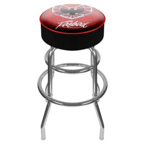 Trademark Global Pontiac Firebird Red Padded Swivel Bar Stool