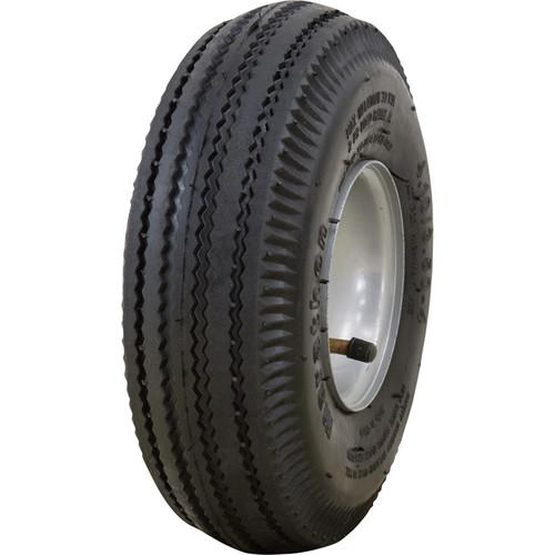 Marathon Tires Pneumatic Wheelbarrow Tire  3/4in. Bore, 4.10/3.504in.