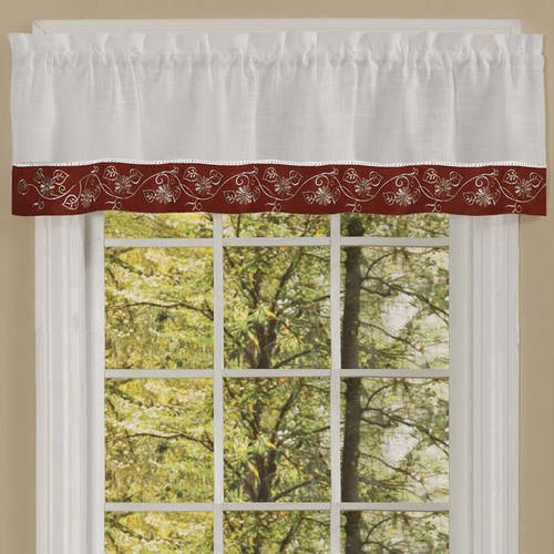 Oakwood Valance Available In Multiple Colors