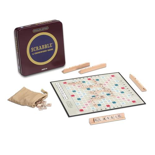 Scrabble Nostalgia Tin Board Game by Hasbro