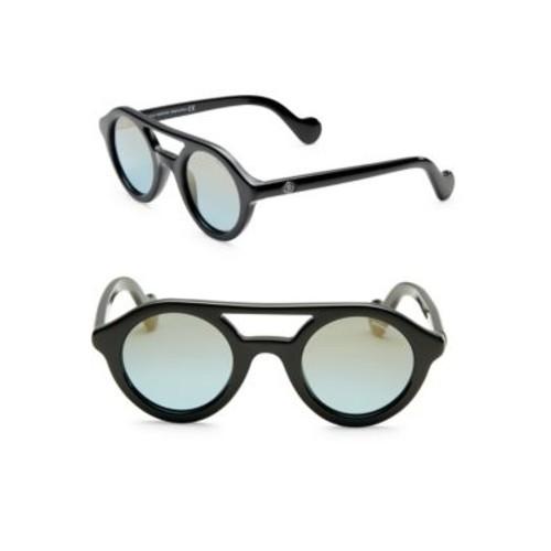 47MM Round Mirrored Sunglasses
