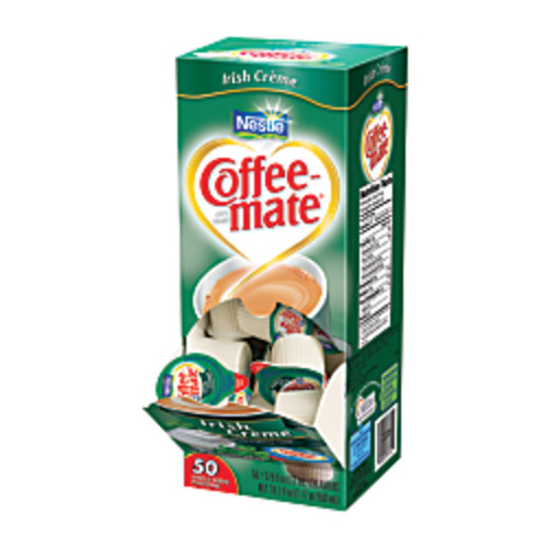 Nestle Coffee-mate Liquid Creamer Singles, Irish Creme, 0.38 Oz, Box Of 50