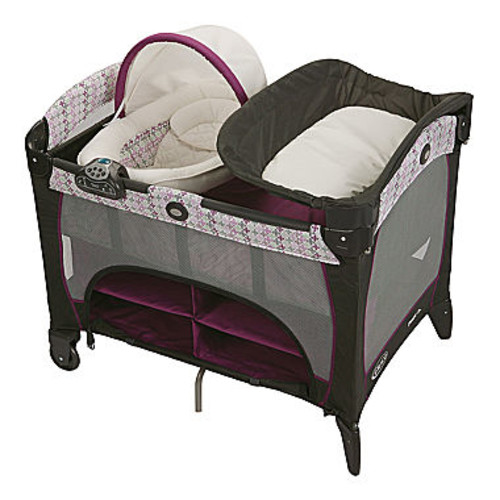 Graco Pack 'n Play Playard With Newborn Napper Station DLX & Changing Table - Nyssa