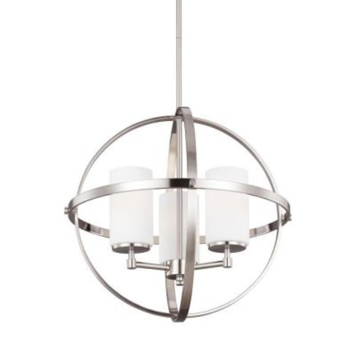 Sea Gull Lighting Alturas 3-Light Brushed Nickel Single Tier Chandelier