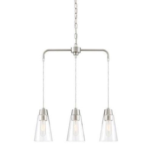 Designers Fountain Echo 3-Light Satin Platinum LED Chandelier