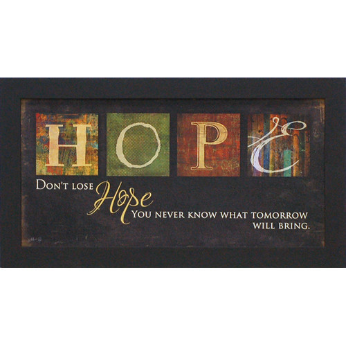 Don't Lose Hope by Marla Rae Framed Textual Art