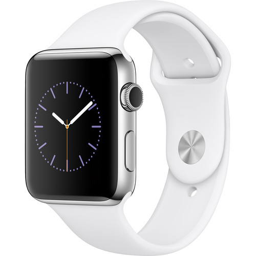 Watch Series 2 42mm Smartwatch ( Stainless Steel Case, White Sport Band)
