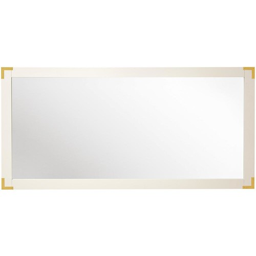 Home Decorators Collection Chatham 30 in. H x 62 in. W Double Framed Mirror in White