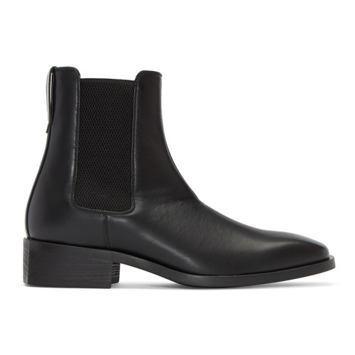 Black Polished Chelsea Boots