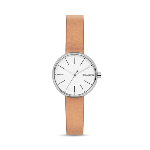 Signature Leather Strap Watch, 30mm