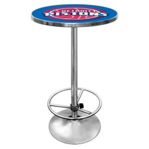 Trademark NBA Detroit Pistons Chrome Pub/Bar Table