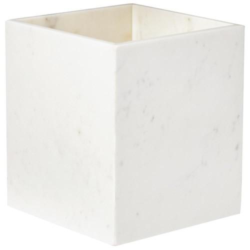 Home Decorators Collection Larissa Waste Basket in White