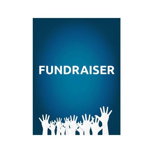 Plastic Sign, Fundraiser Hands, Vertical