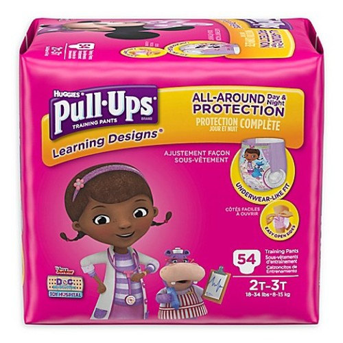 Pull-Ups Learning Designs 54-Count Disposable Girl's 2T-3T Training Pants