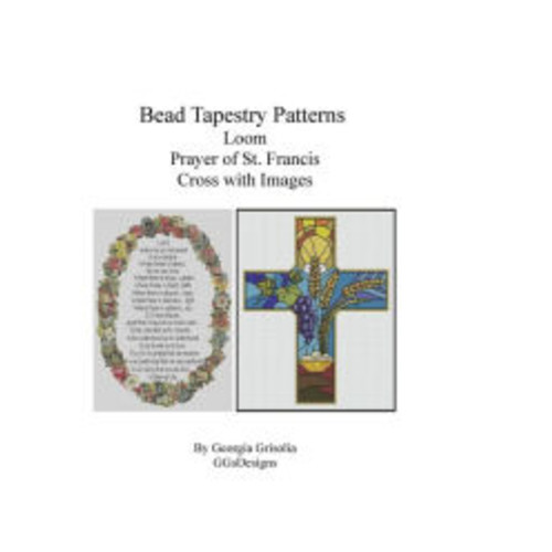 Bead Tapestry Patterns Loom Prayer of St. Francis and Cross with Images