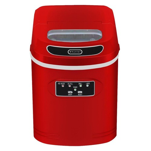 Whynter 27 lb. Compact Portable Ice Maker in Metallic Red