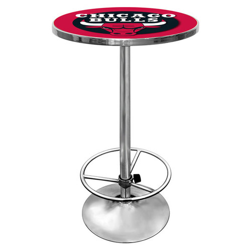 Trademark Gameroom Bar & Pub Tables NBA Chrome Pub Table [option : Los Angeles Lakers NBA Chrome Pub Table]