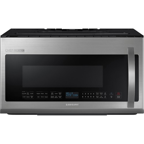 Samsung - Chef Collection 2.1 Cu. Ft. Over-the-Range Microwave - Stainless Steel