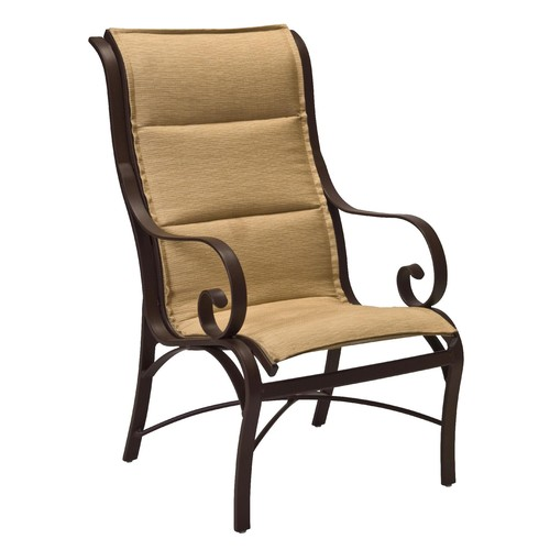 Woodard Wingate padded Sling Dining chair