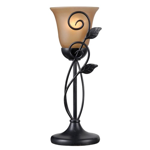 Kenroy Home Arbor 16.25 in. 1-Light Bronze Table Torchiere Lamp