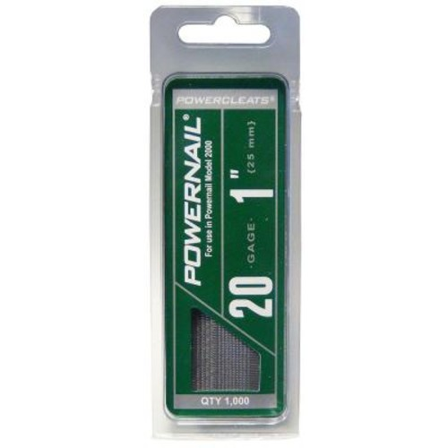 POWERNAIL 1 in. 20-Gauge Hardwood Flooring Cleat (1000-Pack)