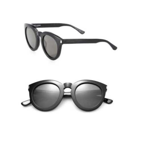 SAINT LAURENT Sl 102 47Mm Round Sunglasses