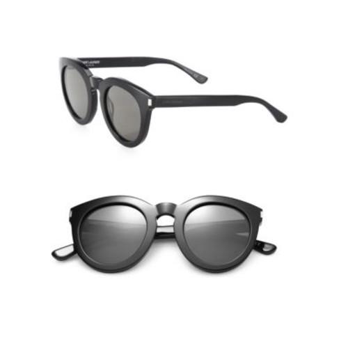 SAINT LAURENT Sl 102 47Mm Round Sunglasses