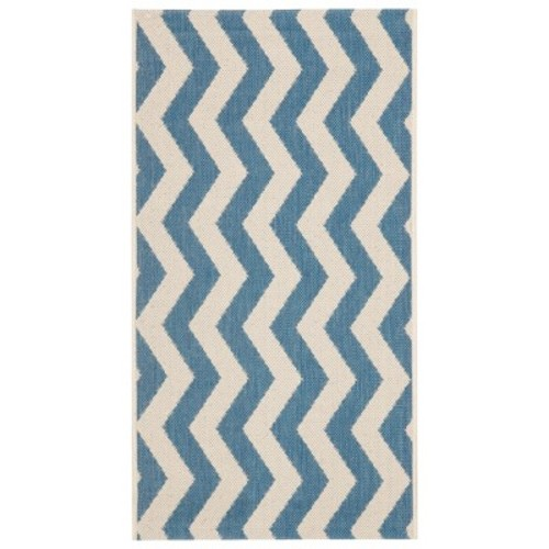 Courtyard Patio Rug Blue/Beige - Safavieh