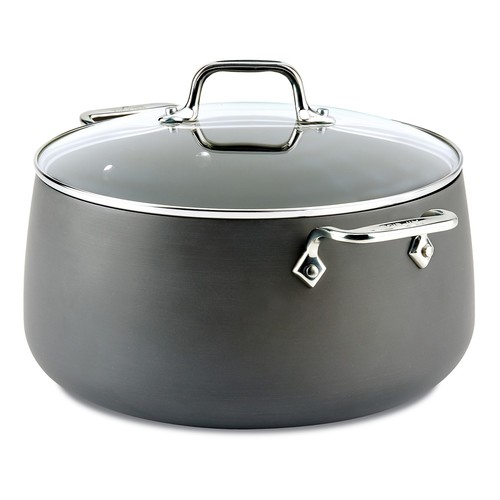 All-Clad B1 Hard-Anodized Stockpot with Lid - 8 qt.